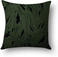 First Row Embroidered Cushions Cover(40 cm, Green)