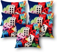 First Row Abstract Cushions Cover(Pack of 5, 40 cm, Multicolor)
