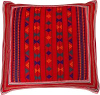 Aamori Embroidered Cushions Cover(60 cm, Red, Multicolor)