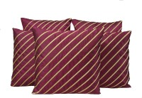 HOME SHINE Striped Cushions Cover(Pack of 5, 40 cm*40 cm, Purple)