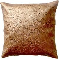 Homeblendz Damask Cushions Cover(40 cm*40 cm, Gold)