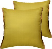 Ans Striped Cushions Cover(Pack of 2, 40 cm*40 cm, Light Green)