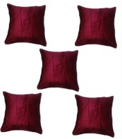 Chandra Impex Plain Cushions Cover(Pack of 5, 30.48 cm*30.48 cm, Maroon)