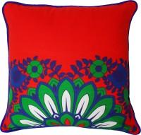 Fatfatiya Floral Cushions Cover(40 cm*40 cm, Blue, Red)
