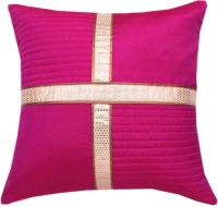 Ans Floral Cushions Cover(40 cm*40 cm, Pink)