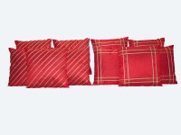 HOME SHINE Geometric Cushions Cover(Pack of 10, 40 cm*40 cm, Red)
