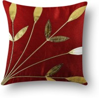 First Row Embroidered Cushions Cover(40 cm, Red)