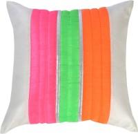 Ans Floral Cushions Cover(40 cm*40 cm, White)