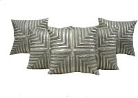 HOME SHINE Geometric Cushions Cover(Pack of 5, 40 cm*40 cm, Grey)