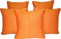 HOME SHINE Plain Cushions Cover(Pack of 5, 30 cm*30 cm, Orange)