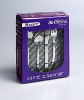 Su Cocina Stainless Steel Cutlery Set(Pack of 30)