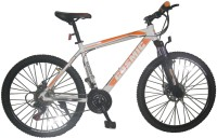 COSMIC FLASH MTB BICYCLE (21 SPEED) WHITE/ORANGE 26 T 21 Speed Hybrid Cycle(White, Orange)