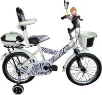 HLX-NMC KIDS BICYCLE 14 BOWTIE ZEBRA STYLE 14 T Single Speed Recreation Cycle(White)