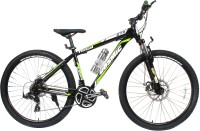 COSMIC TRIUM 27.5 INCH MTB BICYCLE 21 SPEED BLACK/GREEN-PREMIUM EDITION 28 T Mountain/Hardtail Cycle(21 Gear, Black)