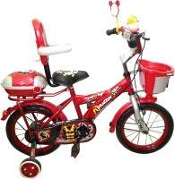 HLX-NMC KIDS BICYCLE 14 BOWTIE RED/GREY 14 T Recreation Cycle(Single Speed, Red, Grey)