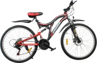 COSMIC VOYAGER 21 SPEED MTB BICYCLE BLACK/RED-PREMIUM EDITION 26 T Mountain Cycle(21 Gear, Black, Red)