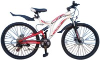 COSMIC VOYAGER MTB BICYCLE-21 SPEED (WHITE/RED) 26 T Mountain/Hardtail Cycle(21 Gear, White, Red)