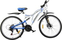 COSMIC VOYAGER 21 SPEED MTB BICYCLE WHITE/BLUE-PREMIUM EDITION 26 T Mountain Cycle(21 Gear, White, Blue)