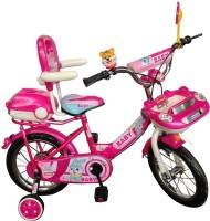 HLX-NMC KIDS BICYCLE 14 CAR-X PINK/WHITE 14 T Single Speed Recreation Cycle(Pink, White)