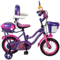 HLX-NMC KIDS BICYCLE 12 BOWTIE PURPLE/PINK 12 T Recreation Cycle(Single Speed, Purple, Pink)