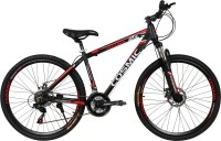 COSMIC ENTOURER 27.5 MTB 21 SPEED BICYCLE BLACK/RED-SPECIAL EDITION 27 T 21 Speed Hybrid Cycle(Black, Red)