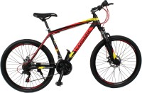 COSMIC MONDO 21 SPEED MTB BICYCLE BLACK/RED-SPECIAL EDITION 26 T 21 Speed Hybrid Cycle(Black, Red)