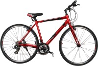 COSMIC SHUFFLE 700 C ALLOY HYBRID BICYCLE RED - SPECIAL EDITION 28 T Hybrid Cycle/City Bike(21 Gear, Red)