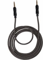 Branko Tangle Free Nylon Braided Car Stereo / Audio Cable 5FT, 3.5mm AUX Cable(Black)