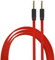 ShoppingKiSite Colorful Slim Thin Noodle Flat Tangle-free Auxiliary Style All 3.5mm-enabled devices Stereo Audio AUX Cable(Red)