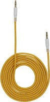 VJOY SC06 3.5mm Male to Male 6ft long Nylon Braided AUX Cable(Yellow)