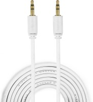 Branko 1.5M Universal 3.5mm Male to Male Stereo Audio AUX Cable(White)