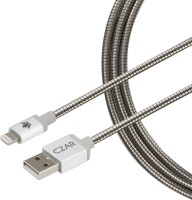Czar Metal Braided Mfi Cable 1 Mtr Silver Lightning Cable(Silver)