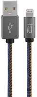 Top Q Denim 2.4A FAST SPEED USB & Charger Data Sync Cable Lightning Cable(Denim)