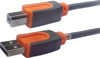 POVO CLASSIC USB Printer Cable 10 Mtr - ORANGE-GREY 305140 Power Sharing Cable(Orange, Grey)