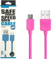VibeX � Micro USB REMAX Safe Charge Speed Cord for Android V8 Sync & Charge Cable(Pink)