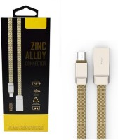 Voltegic � Fast Speed Charging & Transfer Ldino Zn-Alloy Micro USB Cord for Android Phones Sync & Charge Cable(Gold)