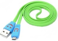 Trioflextech Smiley Cable Green USB Cable(Green)