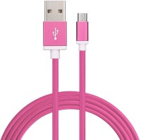 Digishopi Nylon Braided Micro USB Data Cable For Samsung Galaxy J5 1.5 m Micro USB Cable(Compatible with Samsung Galaxy J5, All Smartphones, Pink, One Cable)
