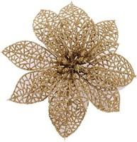 Futaba Gold Christmas Flowers Xmas Tree Decorations - 18 g