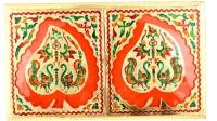 Shreeng Shreeng Handicraft 10x17 Golden Meena Dry Fruit/ Multipurpose Box (23cmX43cmX5cm) Wood Decorative Platter(Multicolor)