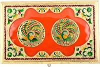 Shreeng Shreeng Handicraft 14x9 Golden Meena Dry Fruit/ Multipurpose Box (23cmX36cmX5cm) Wood Decorative Platter(Multicolor)