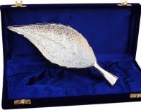 Folkshopz Brass Decorative Platter(Silver)