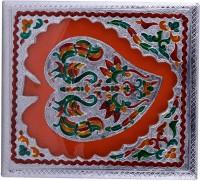 Shreeng Shreeng Handicraft 10x9 Silver Meena Dry Fruit/ Multipurpose Box (23cmX25cmX7cm) Wood Decorative Platter(Multicolor)