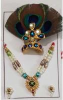 CraftEra Necklace, Mukut(Crown) Deity Ornament(krishna)
