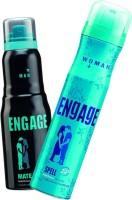 Engage Spell-Mate Deodorant Spray  -  For Men & Women(150 ml, Pack of 2)