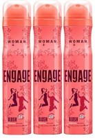 Engage Blush Combo Deodorant Spray  -  For Women(150 ml, Pack of 3)