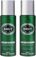 Brut 2 Original Deodorant Spray - For Men & Women(400 ml, Pack of 2)