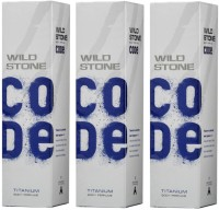 Wild Stone Code Titanium Body Perfume Pack Of 3 Perfume Body Spray  -  For Men(450 ml, Pack of 3)