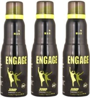 Engage Jump Combo Set Deodorant Spray  -  For Men(150 ml, Pack of 3)