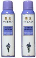 Yardley London English Lavender Body Spray - For Women(300 ml, Pack of 2)